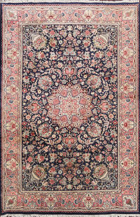 Animal Pictorial Hereke Turkish Area Rug 6x9