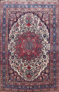 Pre-1900 Antique Dorokhsh Persian Area Rug 9x12