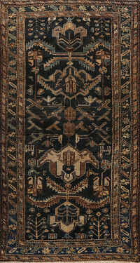 Antique 100% Vegetable Dye Bakhtiari Persian Area Rug 4x6