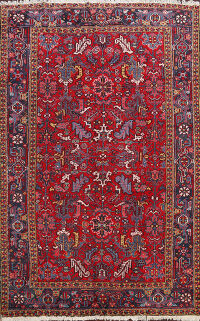 All-Over Heriz Persian Area Rug 8x11