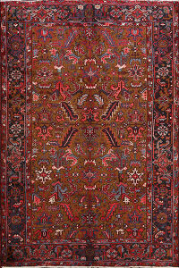 All-Over Heriz Persian Area Rug 7x9