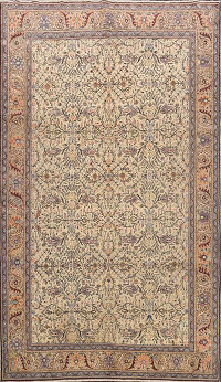 Antique 100% Vegetable Dye Anatolian Turkish Area Rug 7x10