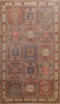 Geometric Anatolian Turkish Area Rug 6x10