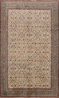 Floral Anatolian Turkish Area Rug 7x9