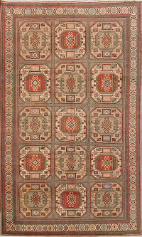 Geometric Anatolian Turkish Area Rug 6x9