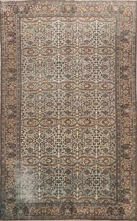 Antique Floral Anatolian Turkish Area Rug 7x10