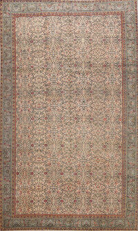 Antique Floral Anatolian Turkish Area Rug 6x9