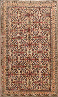 Antique Geometric Anatolian Turkish Area Rug 6x10