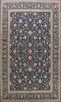 All-Over Kashan Persian Area Rug 9x13