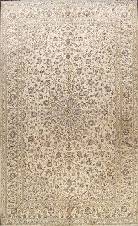 Floral Kashan Persian Area Rug 10x13