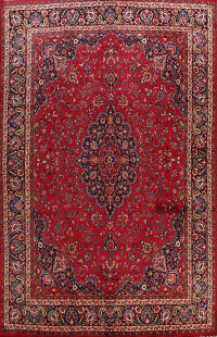 Floral Mashad Persian Area Rug 10x13