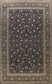 All-Over Kashan Persian Area Rug 10x14
