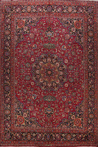 100% Vegetable Dye Large Mashad Persian Area Rug 11x14