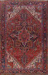 Antique Vegetable Dye Heriz Serapi Persian Area Rug 10x12