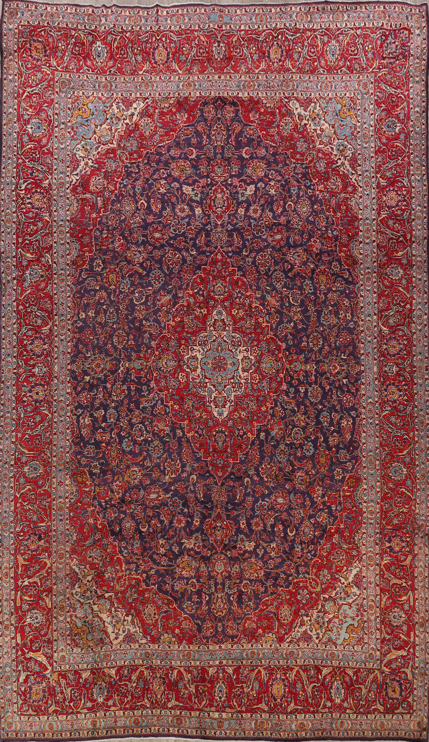 10x15 Room: Large Traditional Kashan Persian Area Rug 10x15