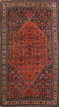 Pre-1900 Antique Vegetable Dye Bidjar Persian Area Rug 4x7