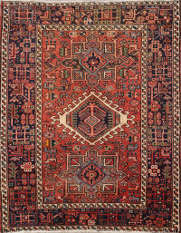 Tribal Gharajeh Persian Area Rug 3x5