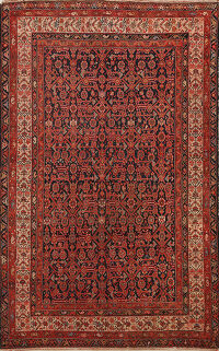 Pre-1900 Antique Malayer Vegetable Dye Persian Area Rug 5x7