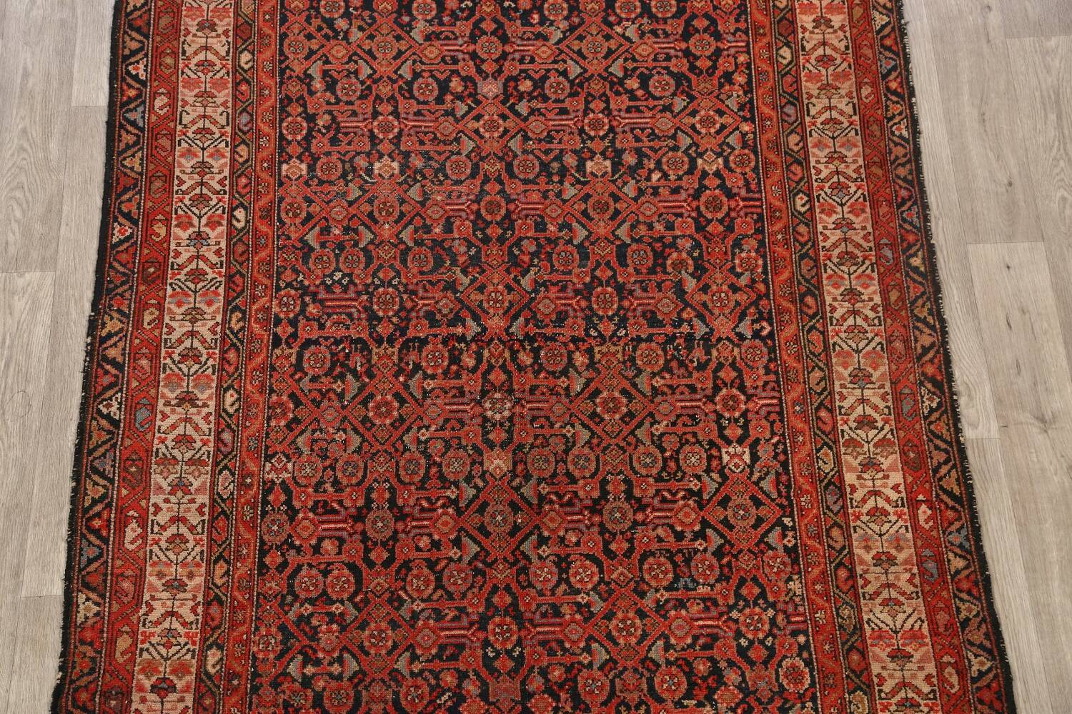 Pre-1900 Antique Malayer Vegetable Dye Persian Area Rug 5x7 image 3