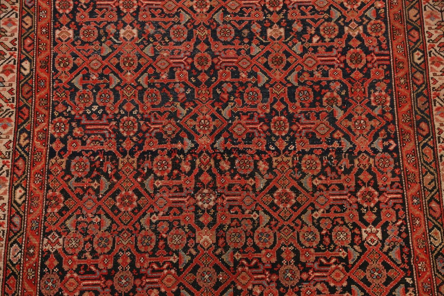 Pre-1900 Antique Malayer Vegetable Dye Persian Area Rug 5x7 image 4