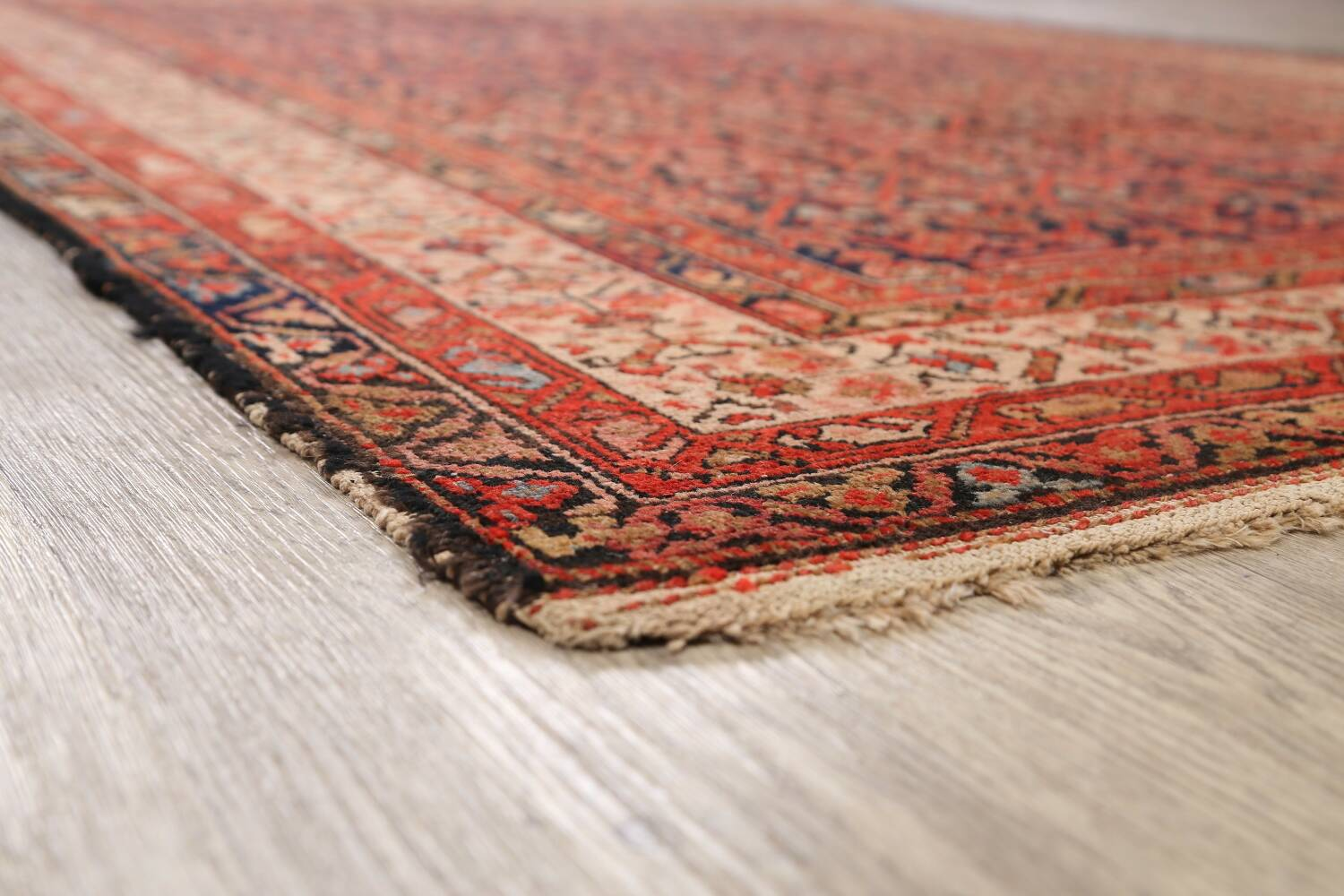 Pre-1900 Antique Malayer Vegetable Dye Persian Area Rug 5x7 image 6