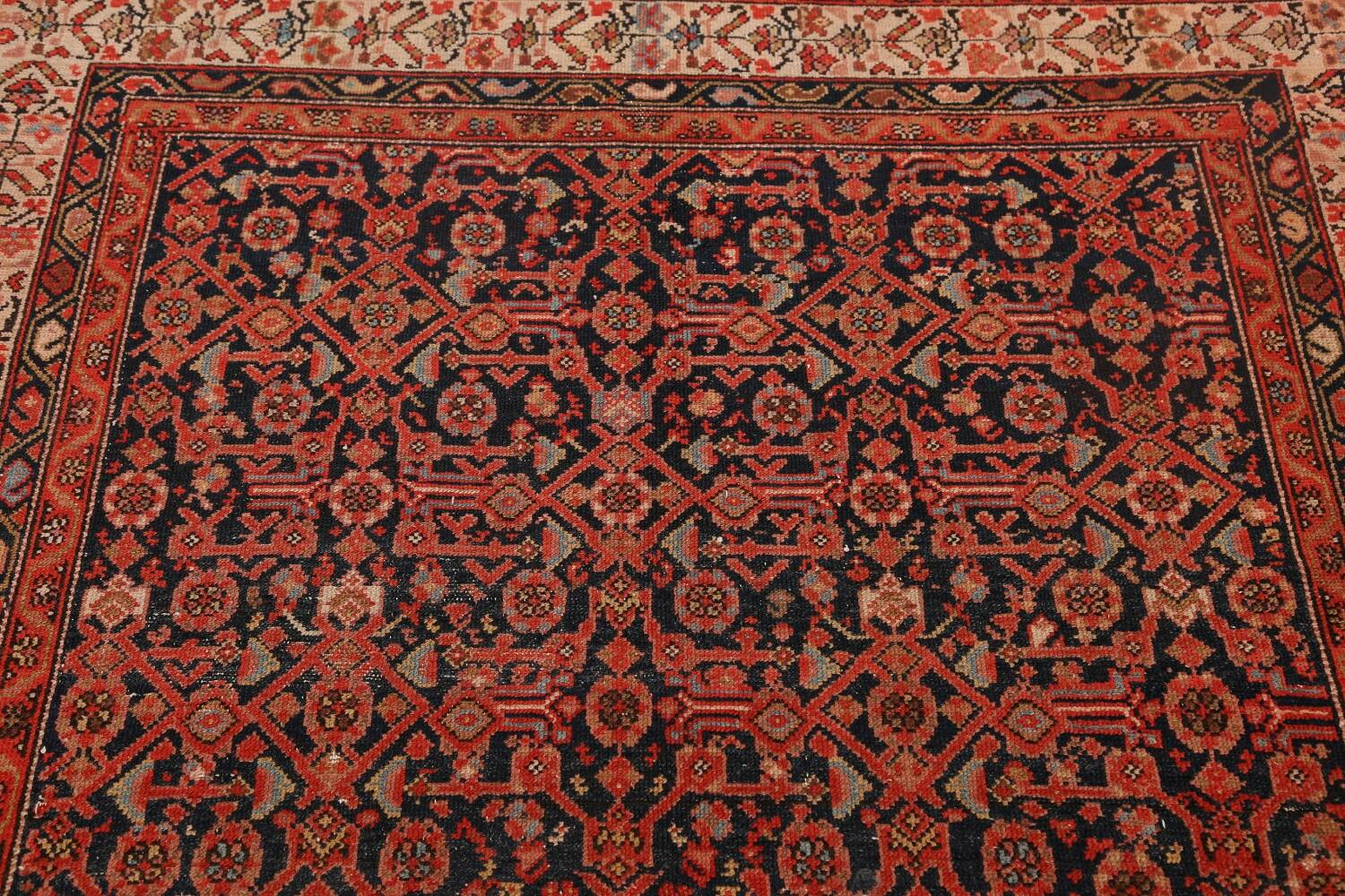 Pre-1900 Antique Malayer Vegetable Dye Persian Area Rug 5x7 image 10