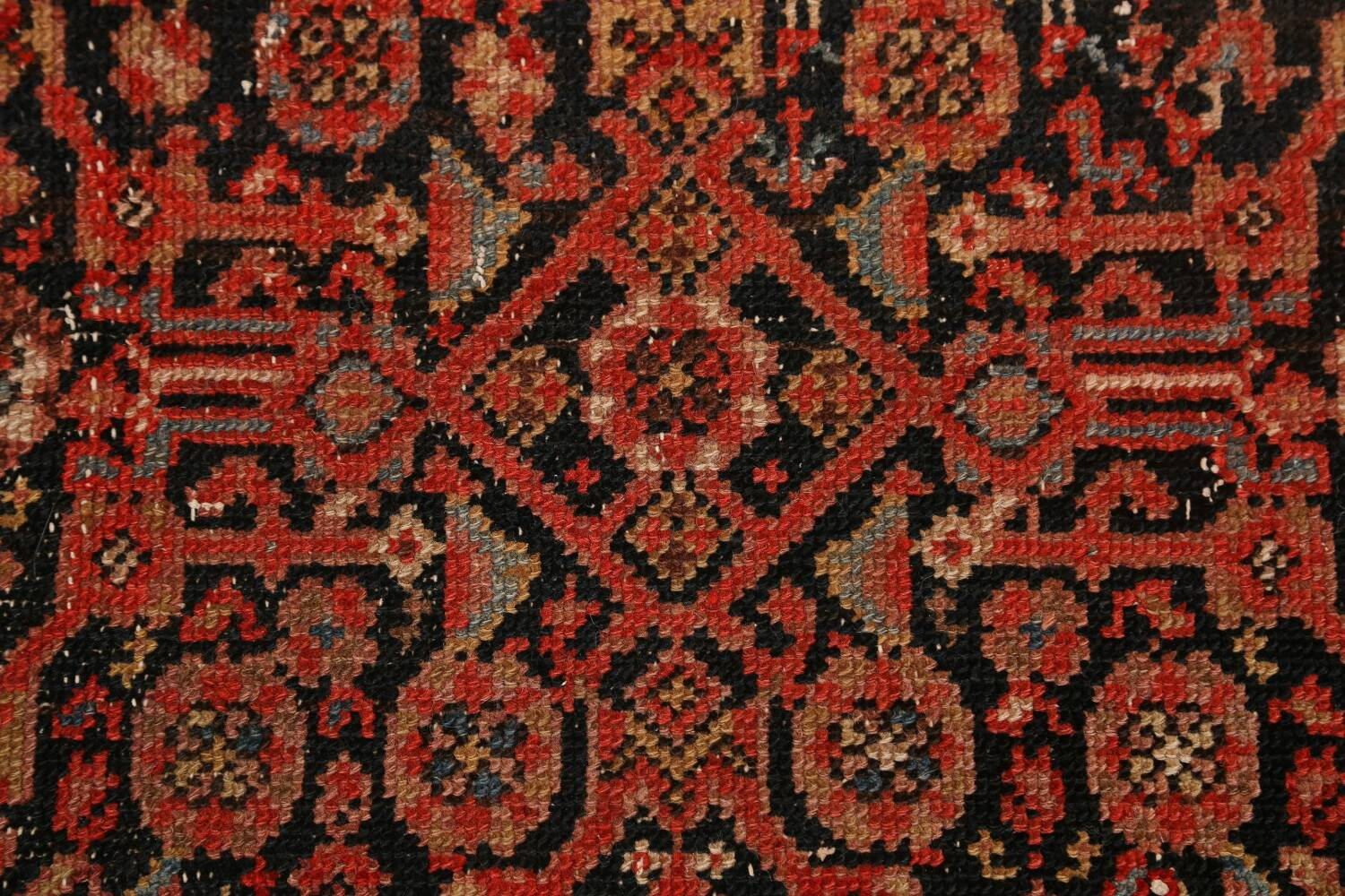 Pre-1900 Antique Malayer Vegetable Dye Persian Area Rug 5x7 image 9