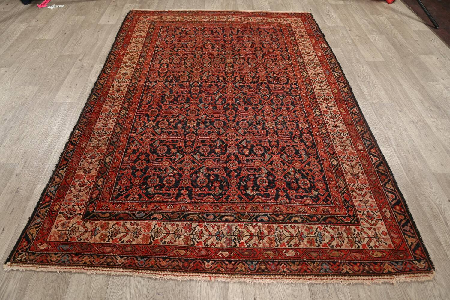 Pre-1900 Antique Malayer Vegetable Dye Persian Area Rug 5x7 image 13