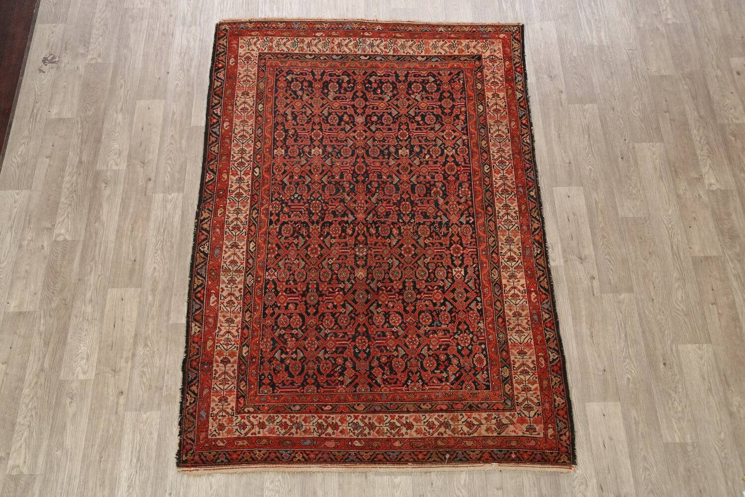 Pre-1900 Antique Malayer Vegetable Dye Persian Area Rug 5x7 image 2