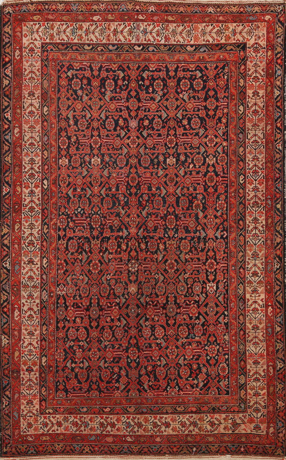 Pre-1900 Antique Malayer Vegetable Dye Persian Area Rug 5x7 image 1