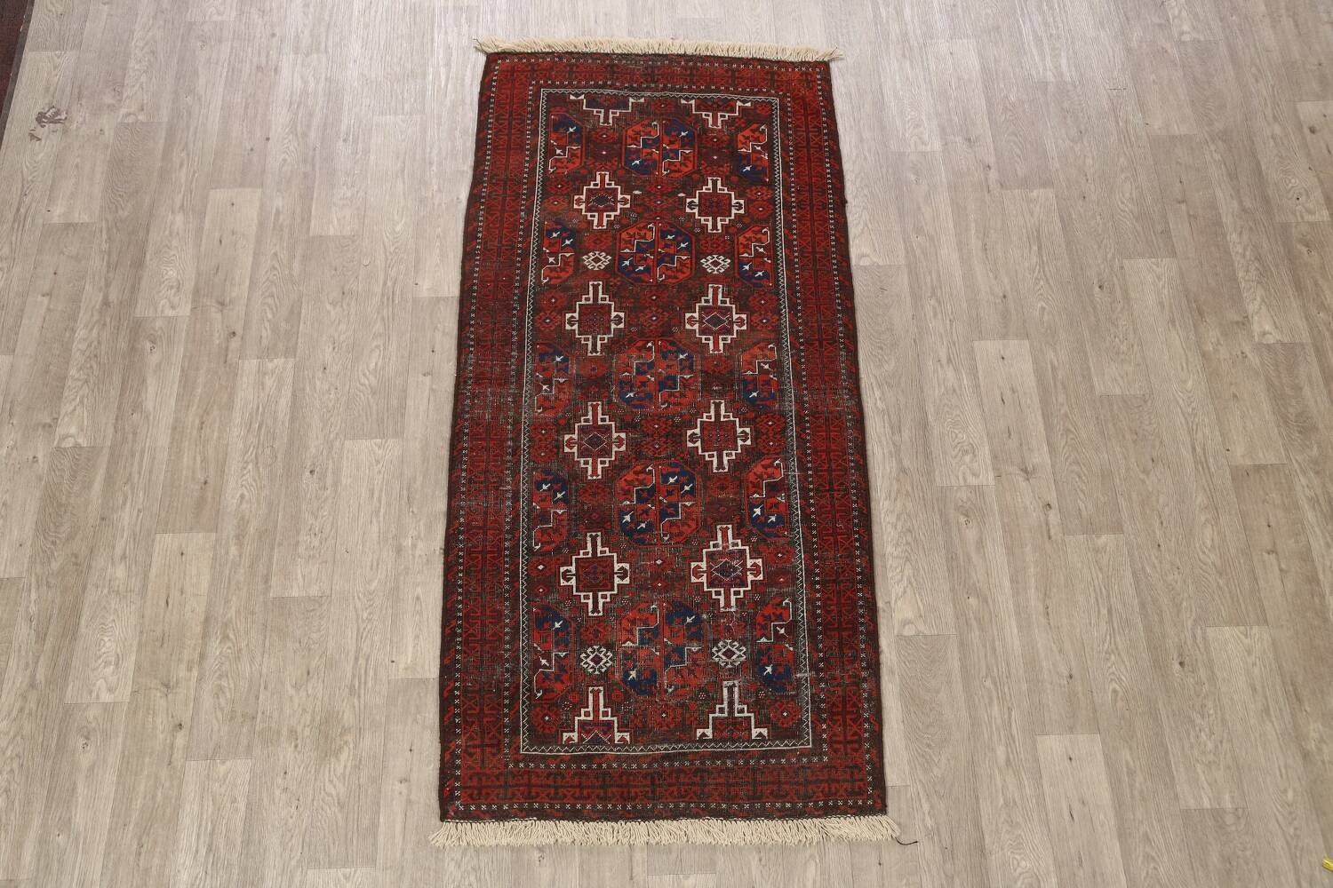 Antique Afghan Balouch Oriental Area Rug 4x7 image 2