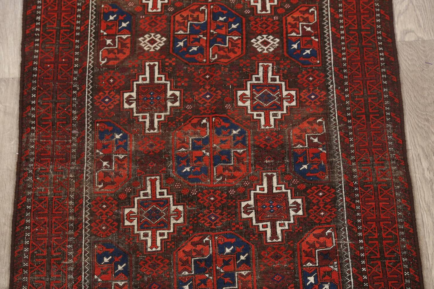 Antique Afghan Balouch Oriental Area Rug 4x7 image 4