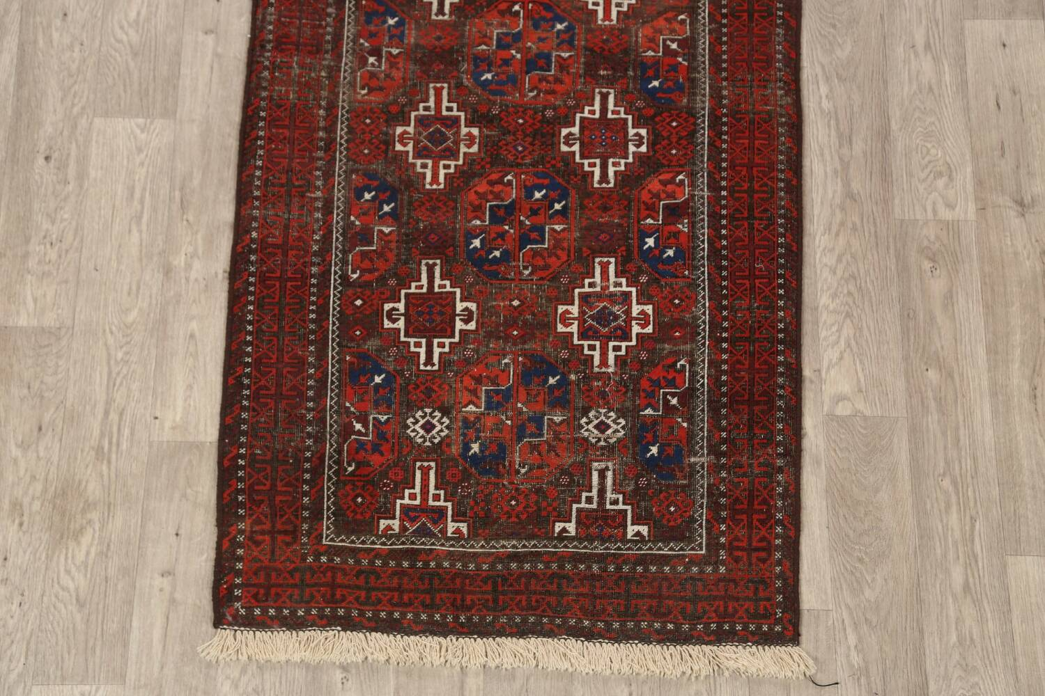 Antique Afghan Balouch Oriental Area Rug 4x7 image 8