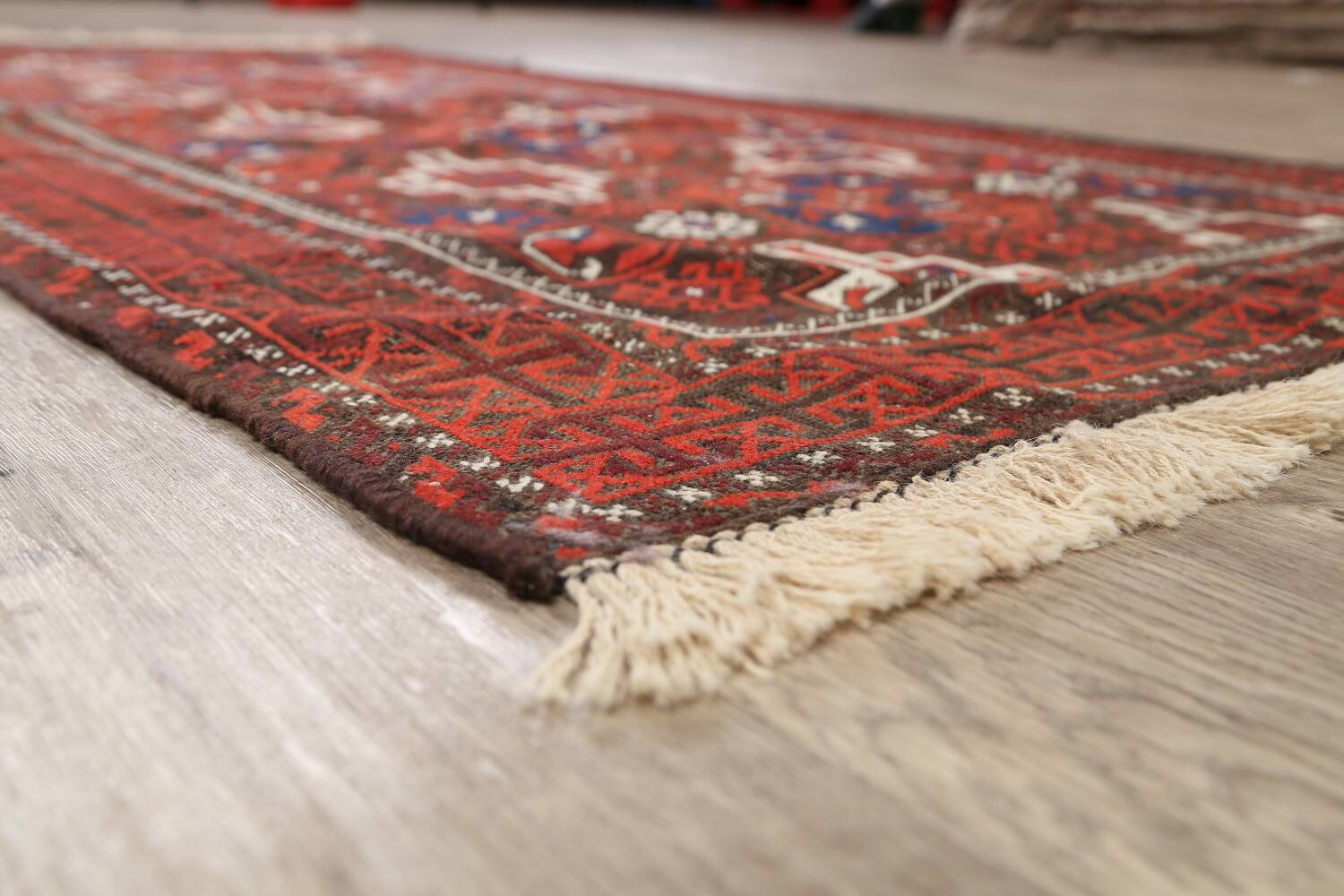 Antique Afghan Balouch Oriental Area Rug 4x7 image 6