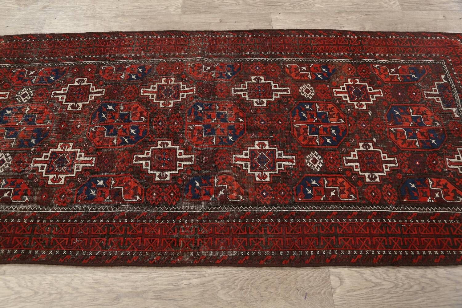 Antique Afghan Balouch Oriental Area Rug 4x7 image 11