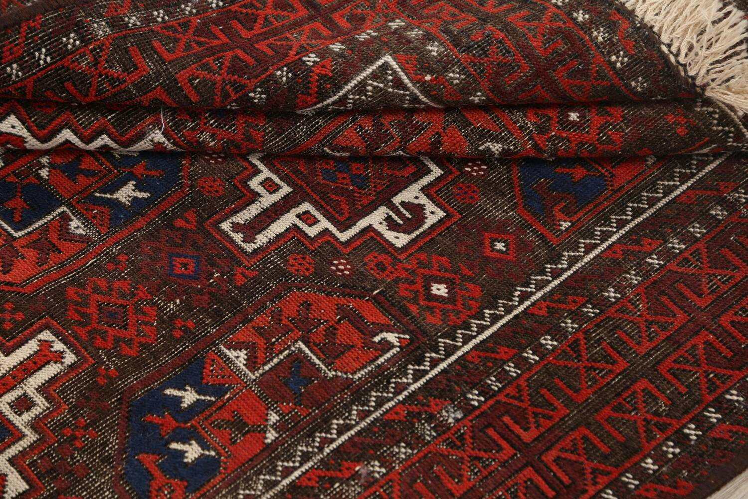 Antique Afghan Balouch Oriental Area Rug 4x7 image 13