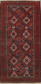 Antique Afghan Balouch Oriental Area Rug 4x7 image 1