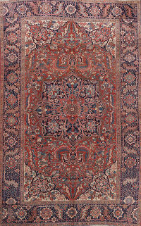 Antique Heriz Vegetable Dye Persian Area Rug 8x12