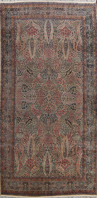 Pre-1900 Kerman Vegetable Dye Persian Area Rug 10x16 Large