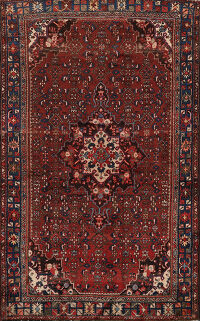 Antique Geometric Malayer Persian Area Rug 5x7
