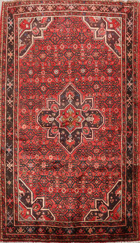 Geometric Hossainabad Persian Area Rug 5x8