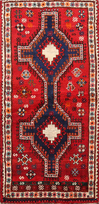 Tribal Shiraz Persian Area Rug 4x7