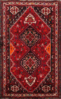 Geometric Shiraz Persian Area Rug 4x5