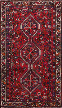 Tribal Shiraz Persian Area Rug 4x6