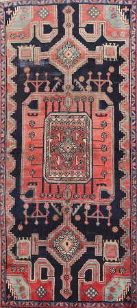 Antique Bakhtiari Persian Area Rug 3x6