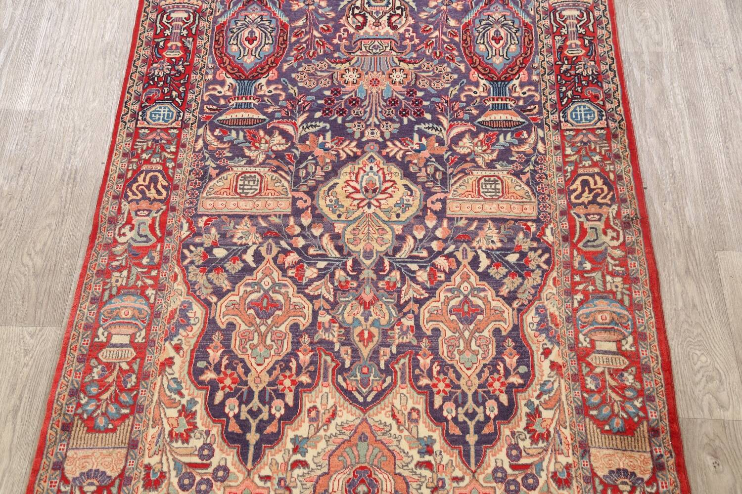 Pictorial Kashmar Persian Area Rug 4x7 image 3