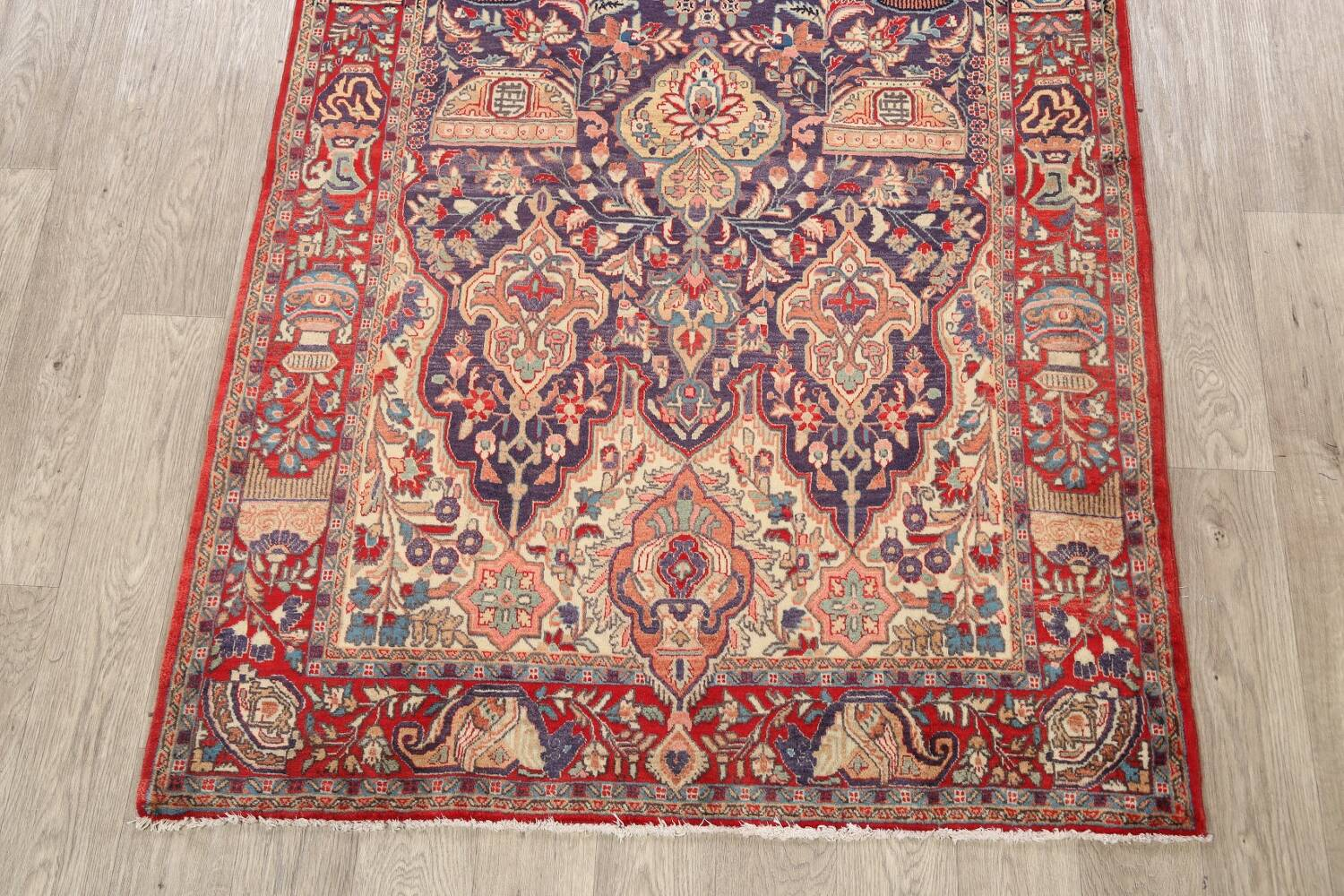 Pictorial Kashmar Persian Area Rug 4x7 image 8