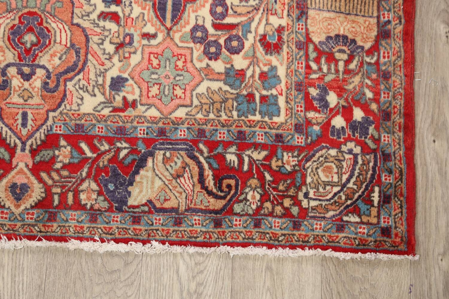 Pictorial Kashmar Persian Area Rug 4x7 image 5