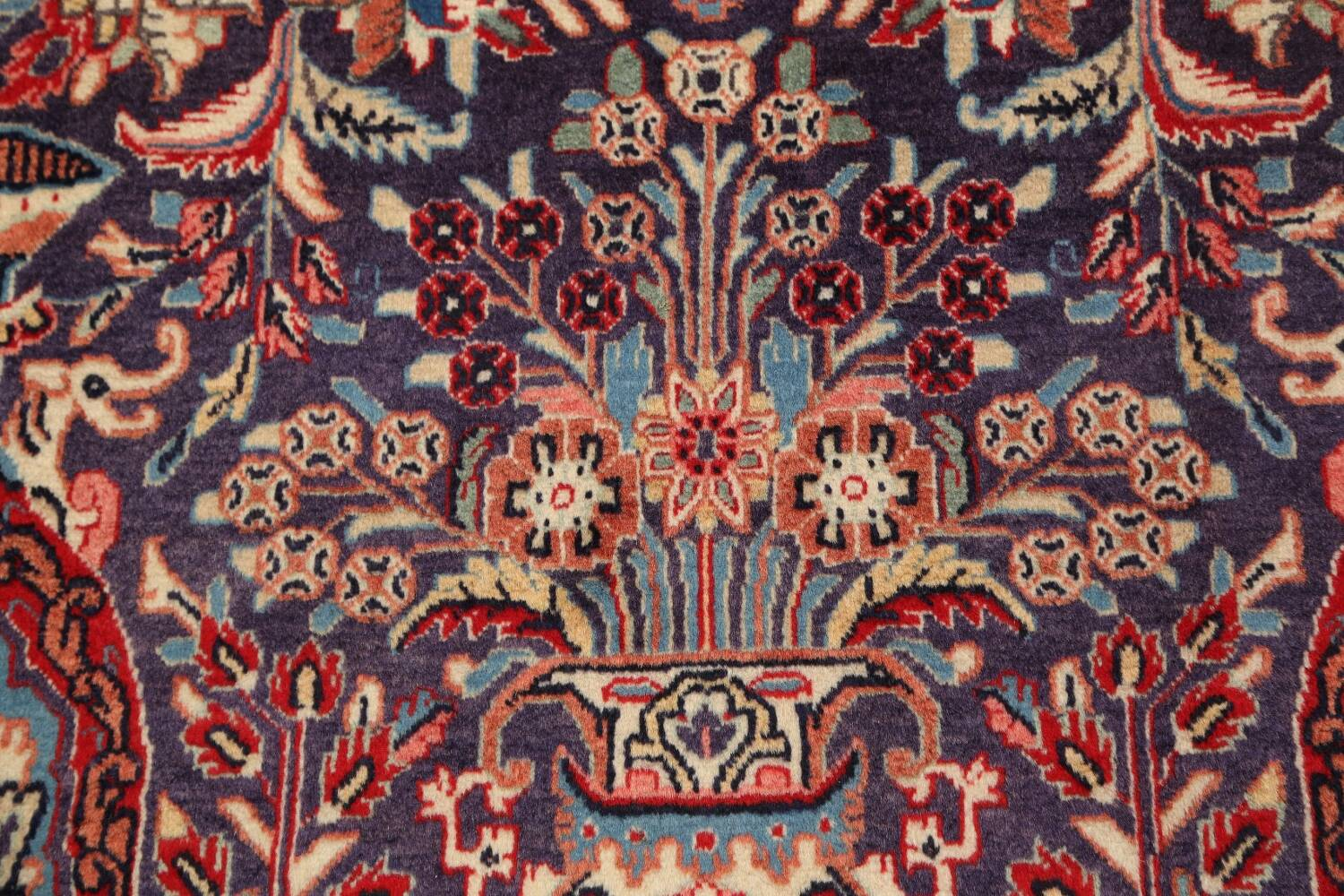 Pictorial Kashmar Persian Area Rug 4x7 image 9