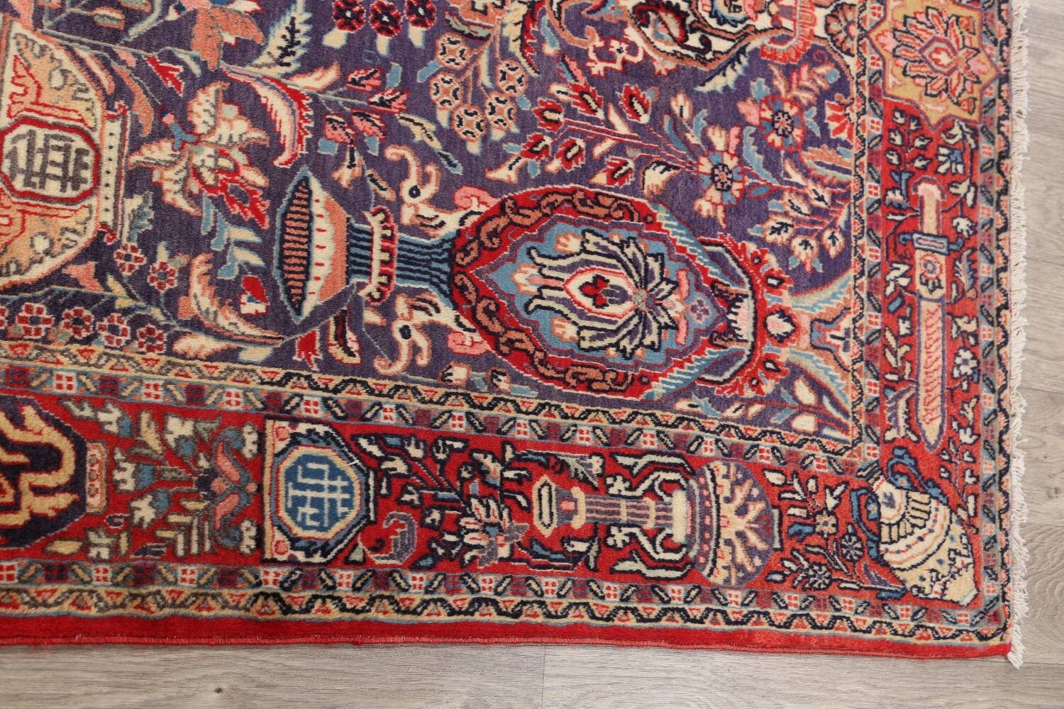 Pictorial Kashmar Persian Area Rug 4x7 image 11